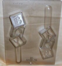 SNAKE PRETZEL ROD CLEAR PLASTIC CHOCOLATE CANDY MOLD H104