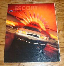 Original 2000 Ford Escort Foldout Sales Brochure 00