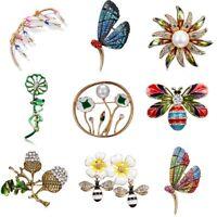 Lovely Flower Bee Butterfly Crystal Pearl Brooch Pin Badge Women Jewelry Costume