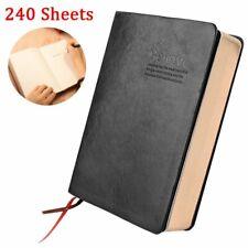 Cuir Noir Carnet Cahier Bloc notes Papier Calepin Mémo Agenda Journal Notepad