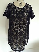 [307] Maternity by Atmosphere Pretty Black lace Top Size 10 Party