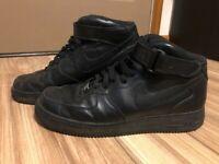 NIKE OG AIR FORCE 1 MID '07 TRIPLE BLACK 315123 001 sizes 11.5 Mens