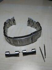 cinturino acciaio 20 mm seiko citizen orient rolex bracelet nuovo