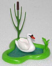 Joli cygne avec étang et roseau playmobil pour ferme maison de poupée OISEAU