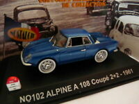 voiture UNIVERSAL HOBBIES NOSTALGIE 1/43 : RENAULT alpine A108 coupé 2+2 1961