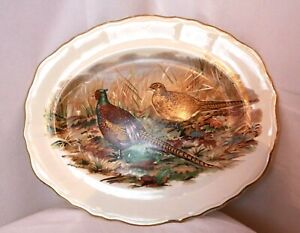 Vintage plate, Grouse, Pheasant, R.L.JOBSON & SON, Alnwick, Berwick, Kelso.