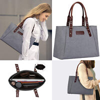 Women Large Handbag Lightweight Tote Shoulder Messenger Shopping Work Zipper Bag