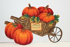 "Pumpkins Iron On Applique Size 7 1/4"" x 6 1/4"" Hand Cut Already Backed"