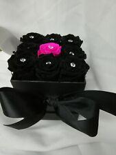Black Rose in box- Preserved Roses - Flower Box