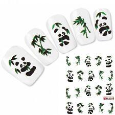 Nagel Sticker Tattoo Panda China Nail Art Aufkleber Bambus Neu!