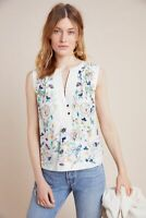 BNWT Anthropologie Isolde Embroidered Top White Size S RRP £140