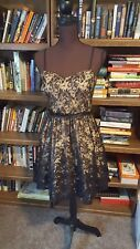 6a3a6aac775 Dress nude and Black Lace A Line Cocktail Party Evening Fit   Flare size 9