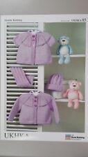 UKHKA 85 Baby Cardigans Scarf & Hat DK Knitting Pattern Newborn - 24mths