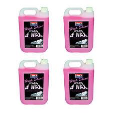 4 x Granville High Shine Wash & Wax Car Wash Shampoo Carnauba Polish Wax 5 Litre