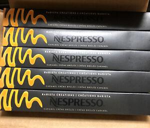 50 Ct Nespresso BARISTA Creations Caramel Creme Brulee OriginalLine BB 10/31/21