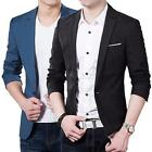 Stylish Men's Solid Casual Slim Formal One Button Suit Blazer Coat Jacket Tops