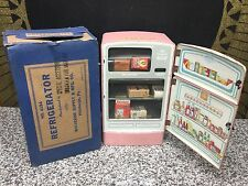 Vintage 1950s Tin PINK Wolverine Rare Advertising Store Display Refrigerator Toy
