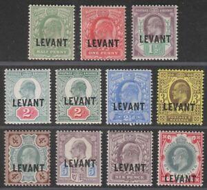 British Levant 1905 KEVII Levant Overprint Set Mint SG L1-L10 cat £110+