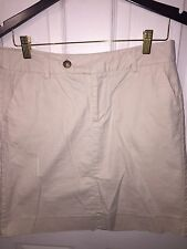 Mossimo Stretch Khaki Front Zip/Button Side/Back Pockets Skirt Size 8