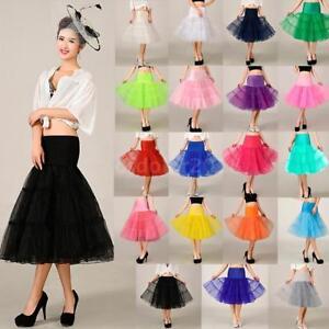 """50s Swing Vintage Petticoat/25"""" Retro Underskirt/Rockabilly Fancy Net Skirt 2020"""