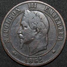 1862 | France 10 Centimes | Bronze | Coins | KM Coins