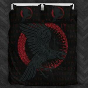New Viking Raven Bedding Set Thanksgiving Christmas New Year Gift