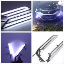 Universal 2 Pcs Car DRL Daytime Running Light HID White High Power Blade Shape