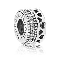 Original PANDORA Charm 797415CZ spacer Hears of PANDORA