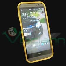 Custodia BUMPER metallo GOLD per HTC One M8 cover alluminio dorato ORO NUOVO