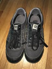 Black Onitsuka Tiger Sneakers Casual Shoes-Lace Up-Size 9 Men-Leather