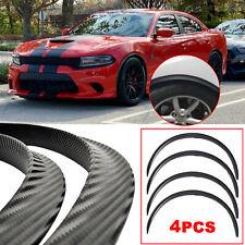 For Dodge Charger Challenger Carbon Fiber Wheel Eyebrow Arch Trim Cover Fender