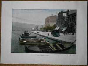 ca.1895 French photochrom TURKEY: THE PORT, SMYRNA IZMIR (#70)