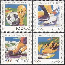 Germany 1994 Olympic Games/Football World Cup/Skating/Sports/Flames 4v (n29519)
