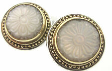 Konstantino Authentic NWT Itaglio Mother of Pearl 18k YG & SS .925 Clip Earrings
