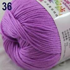 Sale New 1Ball x 50g Cashmere Silk Wool Hand Knit Wrap Shawls Crochet Yarn 36