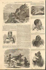 Com. Perry's Expedition To Japan & China, Vintage 4pgs. 1856 Antique Art Print