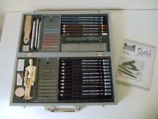 Royal Langnickil Sketching Artist Set Kit Art Drawing Charcoal Pencils Pastels