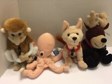 Cola Animal Plush Collection Reindeer Wolf Monkey Octopus