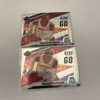 Russell Westbrook 2019-20 Mosaic Give And Go Silver Prizm Insert Card Lot (2)