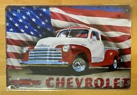 CHEVROLET Pickup 3100 Blechschild 20x30 Vintage Car used look classic GT NEU old