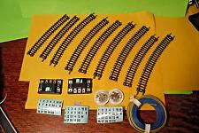 80'S/90'S VINTAGE ATLAS N GAUGE TRAIN TRACKS, SWITCH CONTROLS, WIRE BULK SET!