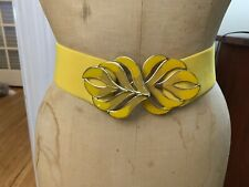Vintage 80s Yellow Stretchy Belt