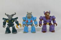 LOT of 3 Vtg 1987 Battle Beasts Bloodthirsty Bison Buffalo & Hippo Hasbro Takara