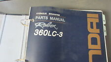 HYUNDAI 360LC-3 EXCAVATOR PARTS MANUAL Part # 91EH-30030-06