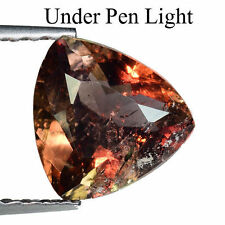 1.130cts GLORIOUS TOP UNHEATED COLOUR CHANGE BROWN NATURAL AXINITE TRILLION CUT
