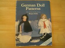 """German Doll Pattern book for 12 & 15"""" dolls - 15 ready to use patterns w/ instr"""