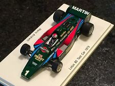 Spark 1/43 Martini Racing Team Lotus 80 #1 Test Car Mario Andretti 1979