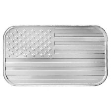 1 oz SilverTowne Flag Silver Bar (New)