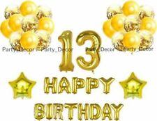 "16"" Gold Happy Birthday 16/18/21st/30/40/50/60th Decoration Banner Balloons B*"