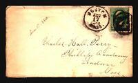 """US 1880 Cover / Fancy Boston """"4"""" Cancel - Z19300"""